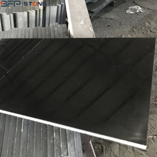 Black Natural Granite Stone Polished Tile for Floor Wall & Countertop