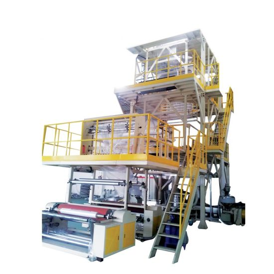 ABC 3 Layers Co Extrusion Plastic Film Blowing Machine