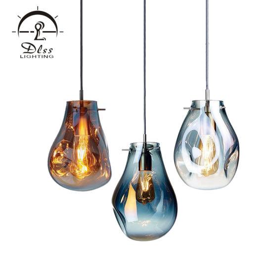 Home Lighting Modern Gold Glass Pendant Lamp for Home Decoration