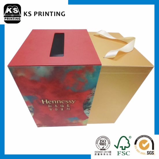 Premium Customized Handle Whisky Packaging Box pictures & photos