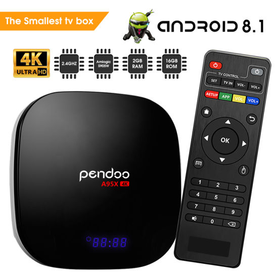 China TV Box Android 8 1 Amlogic S905W Pendoo A95X S905W 4K