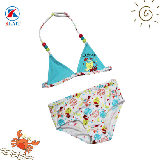 695c5d8a39 2019 New Arrivals Children Summer Split Two-Piece Beautiful Colorful Print  Baby Girl Bikini