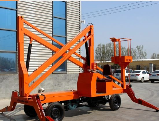 Diesel Engine Mobile or Trailer Articulating Aerial Working Boom Lift pictures & photos