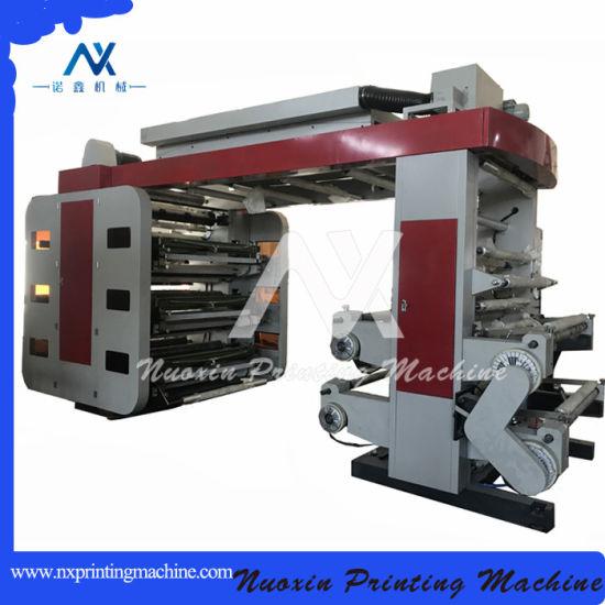 Nuoxin 6 Colour High Speed PVC UV Foil BOPP PE Label Paper Cup Plastic Film Bag Flexographic Flexo Printing Machine Price