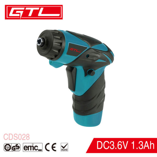 3.6V Lithium-Ion LED Light Adjustable Clutch Cordless Twistable Handle Cordless Screwdriver