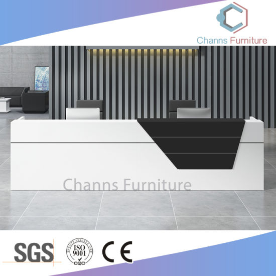China Modern Furniture Design Counter Reception Desk For Office Use