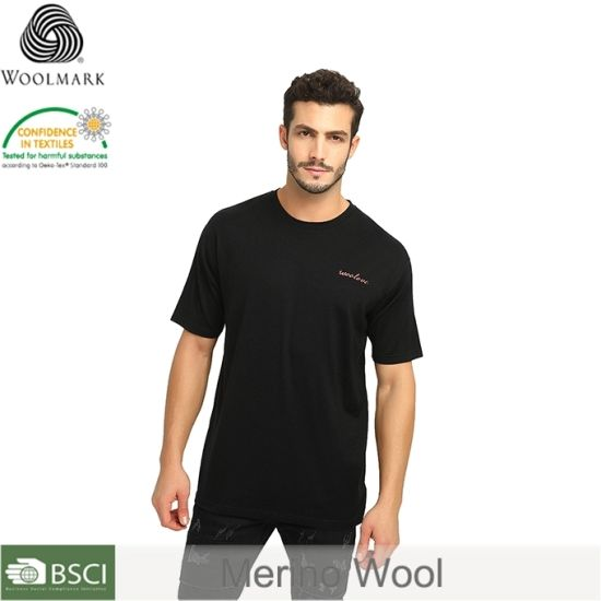 Merino Wool Fashion Men's Crew Neck T-Shirt