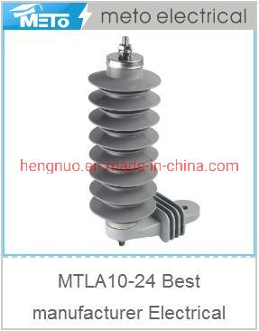 Mtla10-24 Factory Production Limit Over 24kv 10ka High Voltage Lightning Arrester