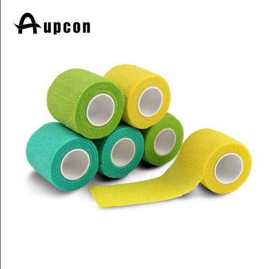 China Medical Surgical Consumables Colored Elastic Wrap Bulk Wholesale Cohesive Bandage China Cohesive Bandage