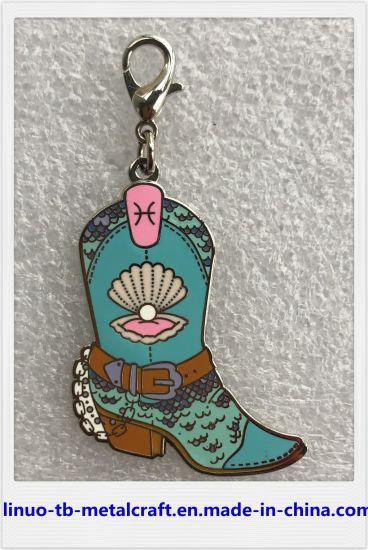 Keyring Promotional Gift Products Fashion Emblem Enamel Pin Customiz Keychain