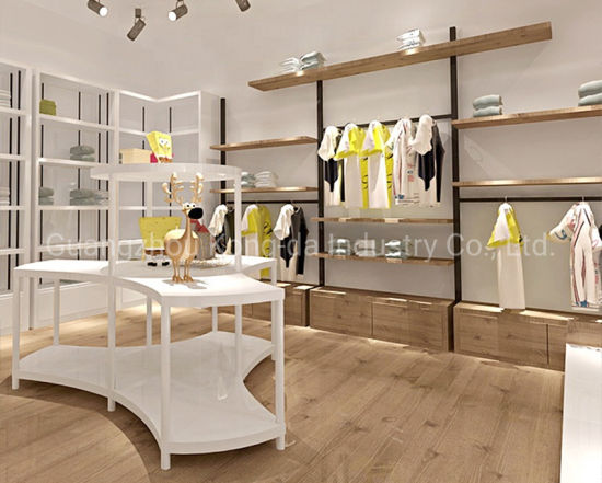 China Boutique Showroom Kid S Clothing Shop Interior Design Clothes Display Shelf China Display Shelf And Clothes Display Price