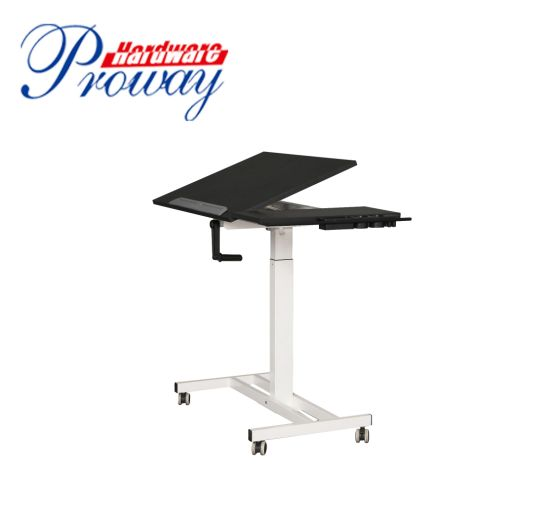 Hand Crank Tiltable Lifting Table with Handle
