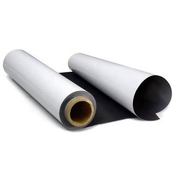 White Flat Flexible Rubber Magnet Sheet in Roll