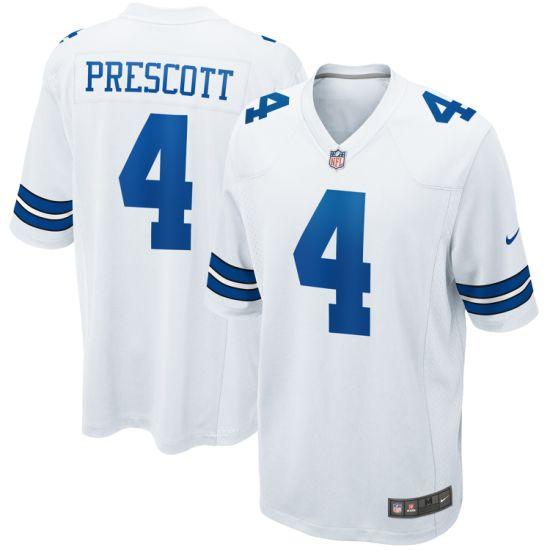 Wholesale Dak Prescott Game Customized #4 Jersey - White