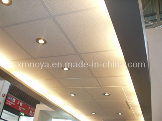 Decorative Material Reinforced Mineral Wool Fiber Ceiling Board / Panel