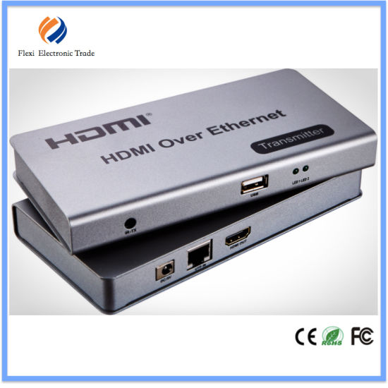 China Kvm USB HDMI Extender 120m Over IP/RJ45 Ethernet - China HDMI