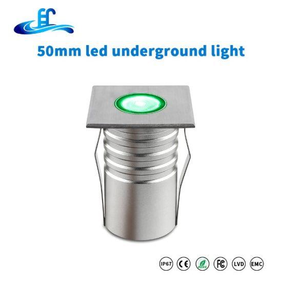 3W Recessed RGB LED Stair Deck Underground Light