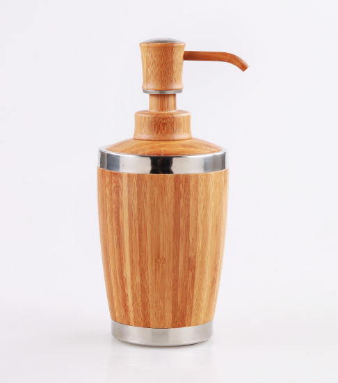 Bamboo Bathroom Lotion Dispenser for Liquid Soap, Shampoo pictures & photos