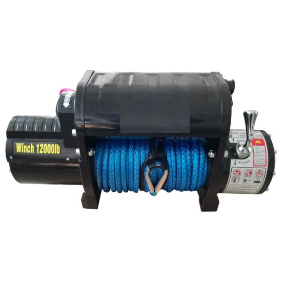 12000lb Winch 12V with Metal Control Box Synthetic Rope