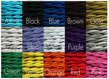 Braided Twist Textile Cable Pendant Lighting Components
