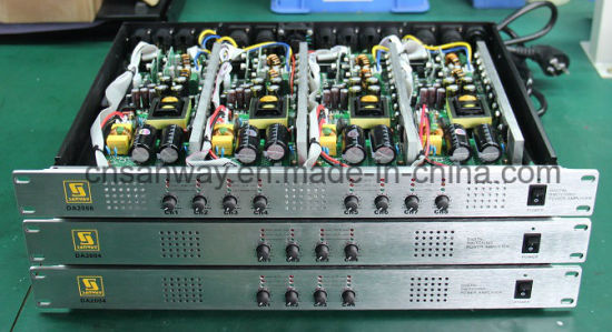 Da2008 1u 8 Channel 300W 4 Ohms Class D High End Audio Amplifier pictures & photos