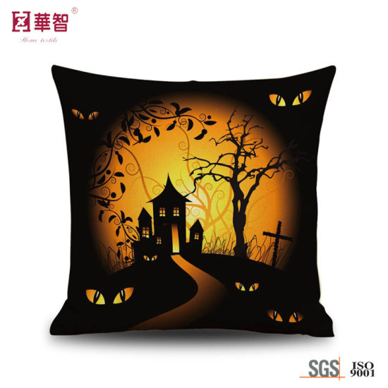 Customized Design Printing Cushions Throw for Halloween pictures & photos