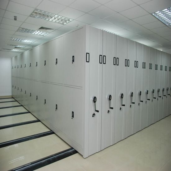 School Library Furniture Mobile Shelving Fireproof Waterproof File Cabinet Shelf Pictures Photos