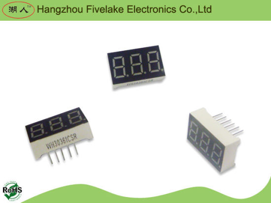 "0.36"" 3 Digits 7 Segment LED Display (WD03631-A/B) pictures & photos"