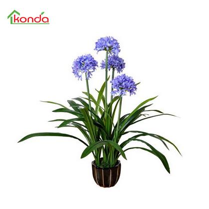 Decorative Bonsai Supplies Artificial Flowers with White Pot Artificial Bonsai