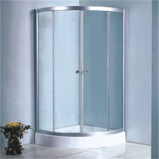 Low Price Bathroom Design Clear Glass Circle Shower Room 90