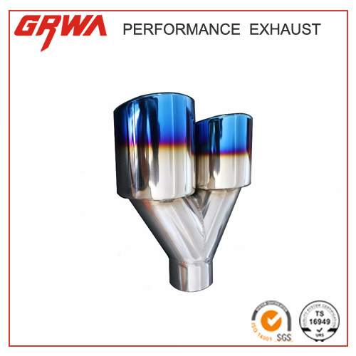 Dual Exhaust Universal Stainless Steel Exhaust Tip with Titanium pictures & photos