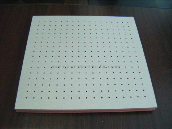 Perforated Wooden Acoustic Board, Sound Absorption Panel for Ceiling Decorative