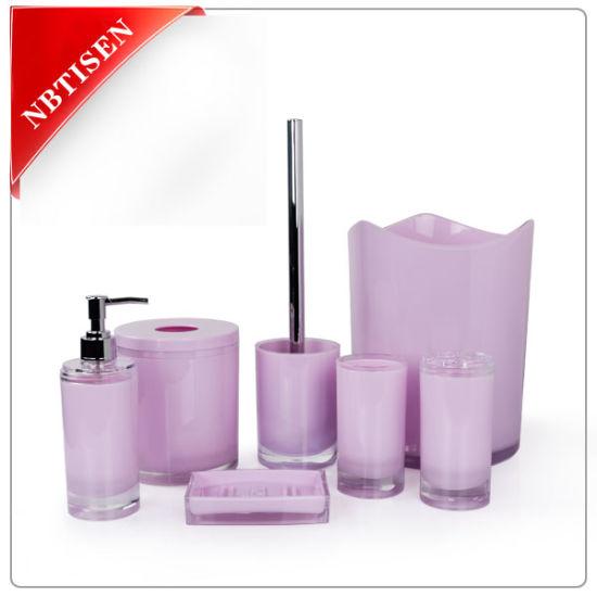 China Acrylic Plastic Bathroom Accessories Set Ts8015 6 China Bathroom Accessories And Bathroom Set Price