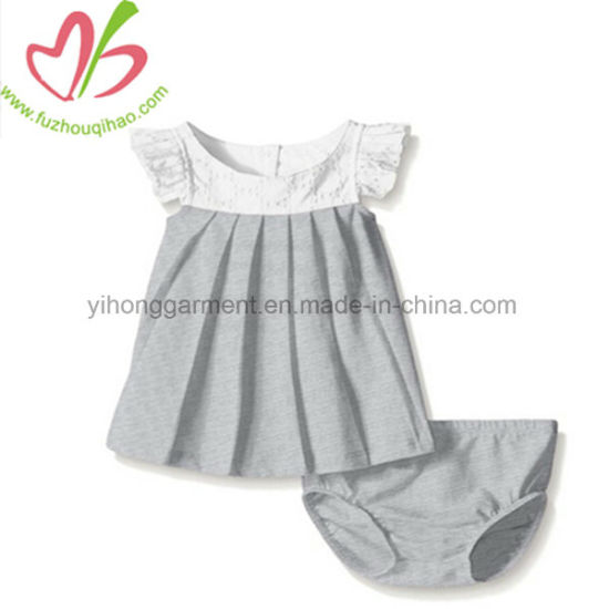 e4c152b7d China Peter Pan Collar Blouse +Short Pants Baby Girl Clothing Sets ...