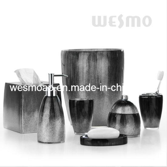 Black Polyresin Bathroom Sets (WBP0346A)