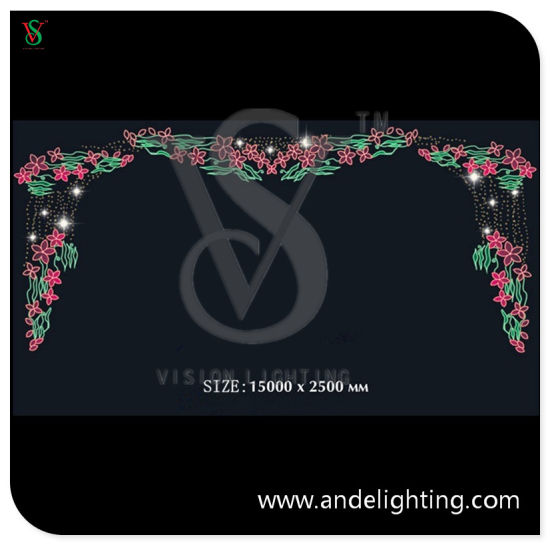 LED Cross Street Light with Fancy 2D Christmas Motif Lights