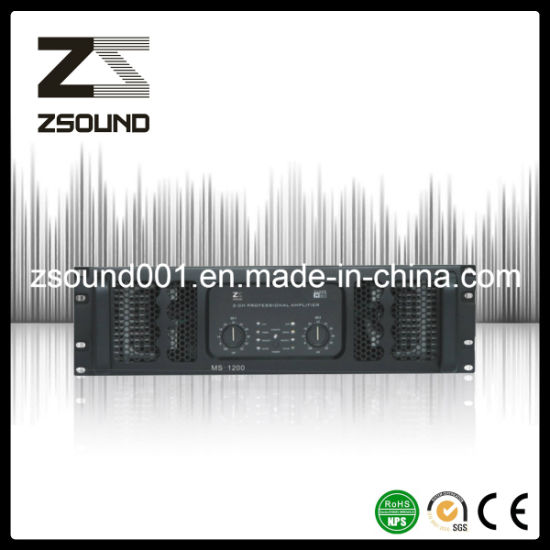China 1200W 2 Channel Power Amplifiers Audio Sound System