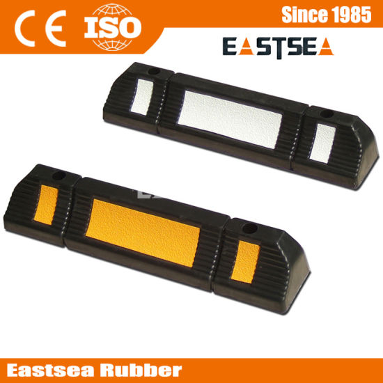 Parking Blocks Rubber Recycled Car Wheel Stops for Parking pictures & photos