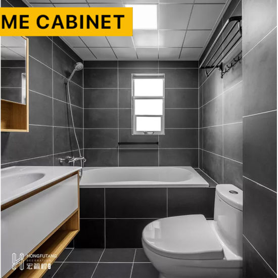 Mecabinet Bathroom Vanity Cabinet China Suppliers European Design Style Composite Acrylic Countertop Material Furniture Bathroom Cabinet for Hotel/Home