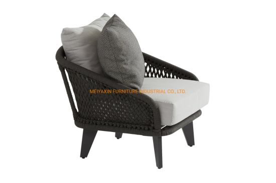Hot Sale Hotel Resort Project Rope Weaving Outdoor Sofa Chair