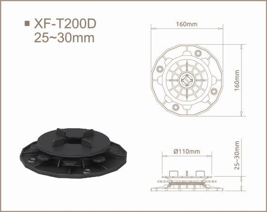 Height Adjustable Tile Support Pedestal for Compensating Slop