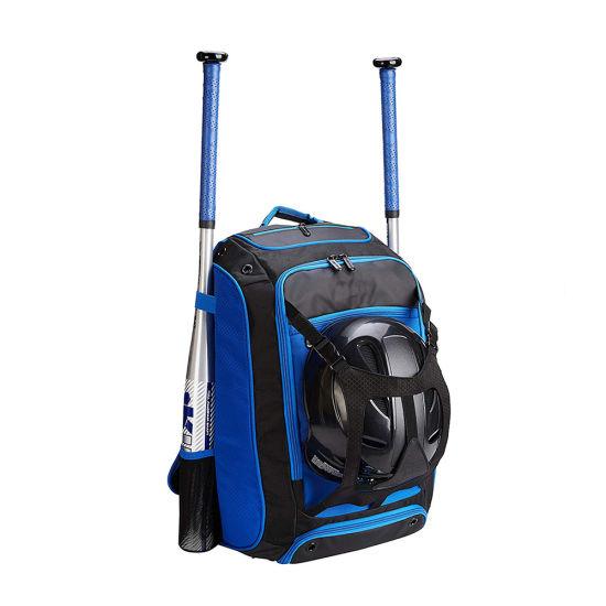 Outdoor Softball Baseball Bat Backpack Bag with External Helmet Holder