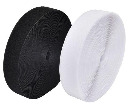 Fashion Accessories White/Black Flat Woven Latex Elastic Band Webbing Manufacturer