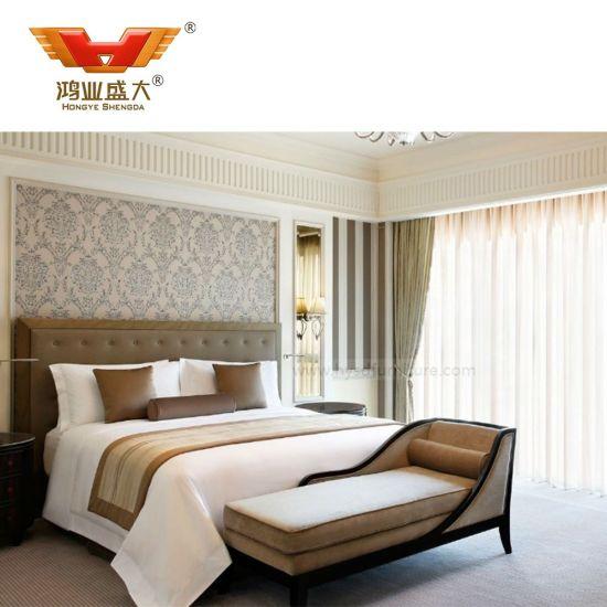 Modern New Design Wood Luxury Hotel Bedroom Suite Furniture