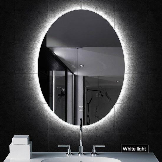 Oval Backlight Bathroom Mirror IP44 Water Proof LED Backlit Light Mirror