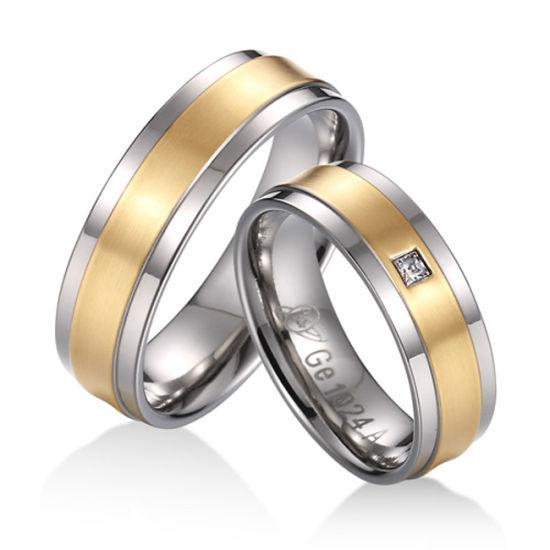 Custom Logo Design Wedding Ring Jewelry for Women Wholesale