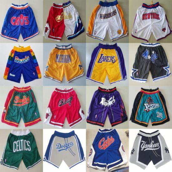 Just Don Yankees Raptors Lakers Magic Baseball Basketball Shorts