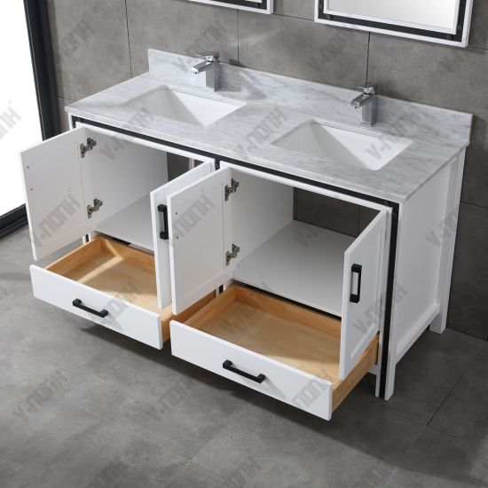 Double Sinks Solid Wood