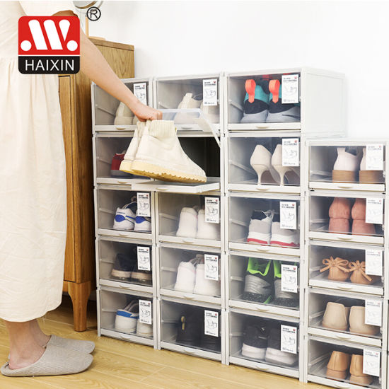 Plastic Shoes Drawer Storage Box for Household