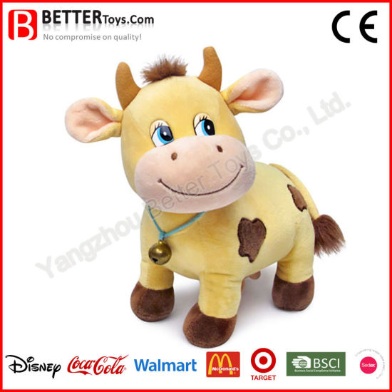 Hot Sale Lovely Plush Cow Toy for Children